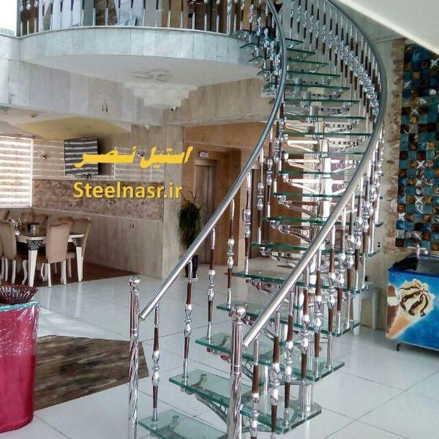 پله مفصلی استیل